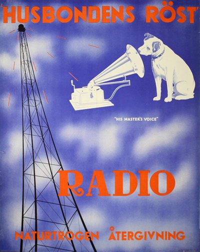 His Masters Voice Radio - Husbondens Röst original poster
