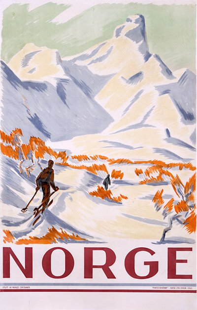 Norge poster designed by Unsigned: Probably Gert Jynge