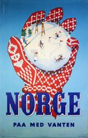 Norge paa med vanten ski poster