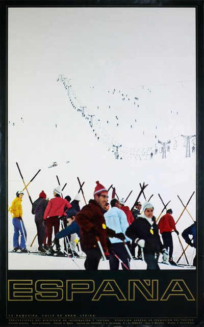 España Spain Ski Poster Travel poster original poster