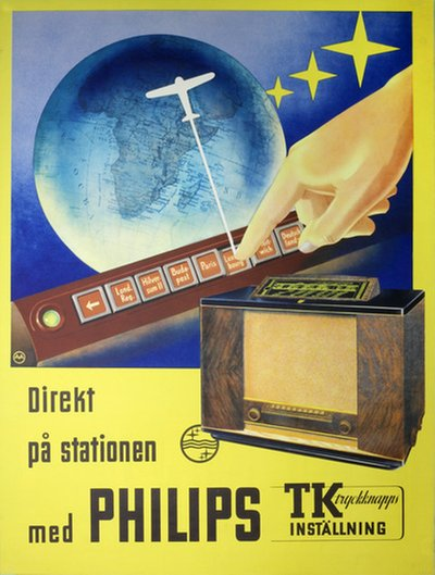 Philips Radio with preset stations original poster