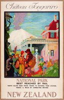 Chateau Tongariro New Zealand hotel travel poster