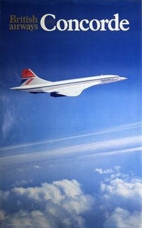 Concorde British Arways 1977 poster