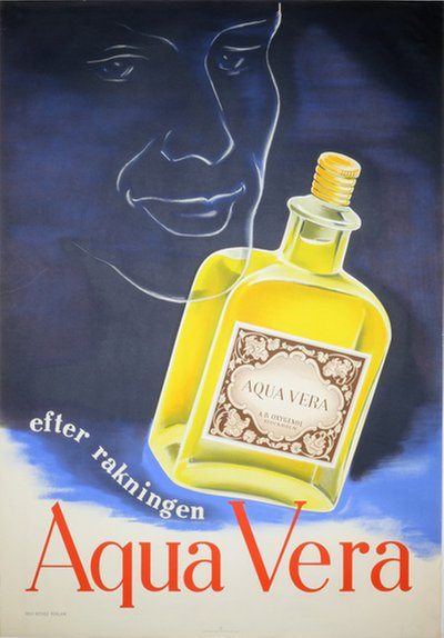 Aqua Vera After Shave original poster designed by Rolf Bethge Reklam