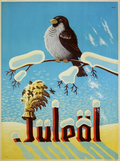 Juleøl - Christmas Beer original poster designed by Andersen, Hans (1905-1971)