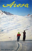 Arosa Suisse Switzerland ski poster
