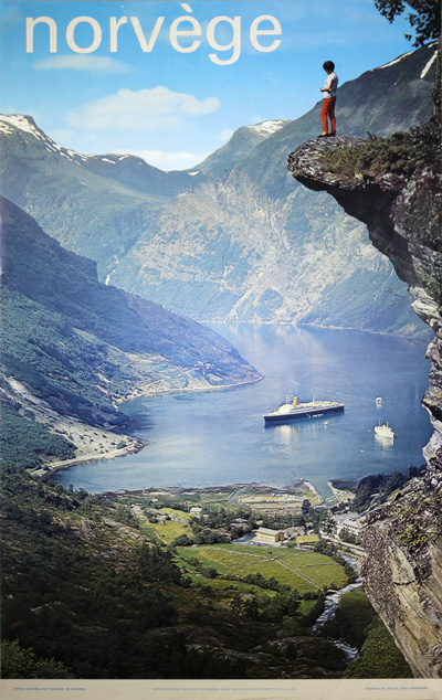 Original Vintage Poster Norvege Geiranger For Sale At Posterteam Com