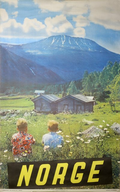 Norge 1955 original poster designed by Photo: Mittet