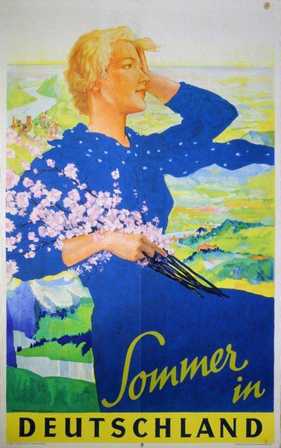 Sommer in Deutschland original poster designed by Ludwig Lutz Ehrenberger (1878-1950)