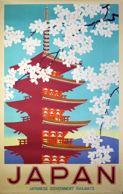 original vintage poster  japan japanese government