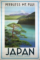 Japan-Japanse-Government-Railways-peerless-mt-Fuji-vintage-poster