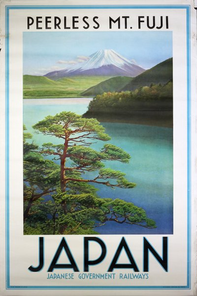 Japan Mt. Fuji - Japanese Government Railways  poster