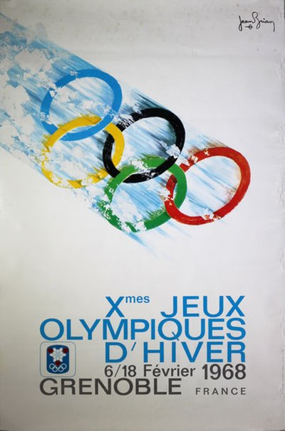 Xth Olympiques d'Hiver Grenoble 1968 original poster