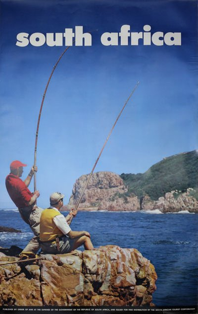 South Africa Fishing poster