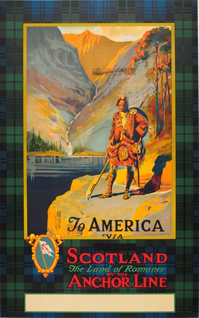 Anchor Line - To America via Scotland original poster