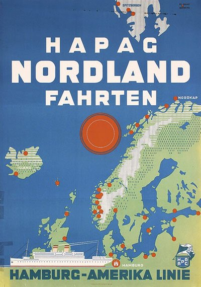 HAPAG NorlandFahrten original poster designed by Etbauer, Paul Theodor (1892-1975)