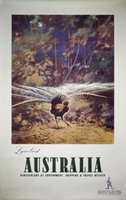 lyrebird-Australia-original-vintage-travel-poster-northfield