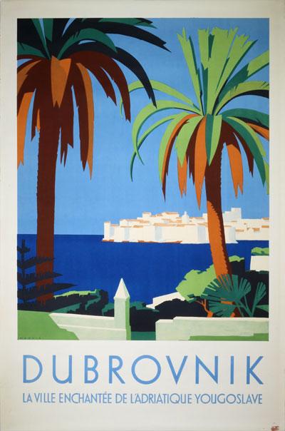 Original Vintage Poster Dubrovnik Croatia Yugoslavia For