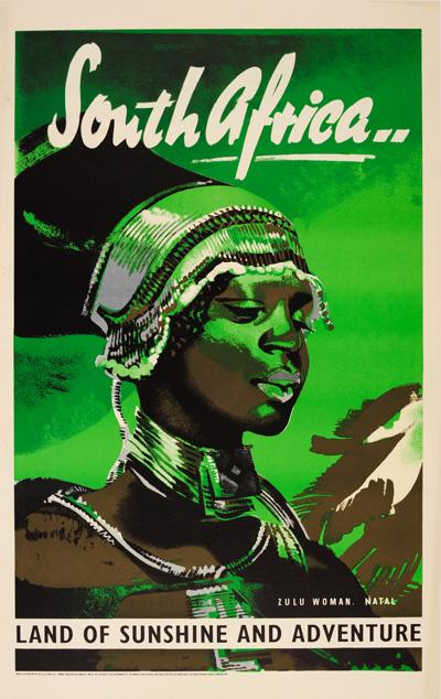 Original Vintage Poster South Africa Land Of Sunshine