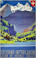 Lucerne-Interlaken-Brunig-Line-Switzerland-Swiss-original-affiche-poster