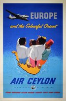 AIR-Ceylon-Colourful-orient-original-vintage-poster