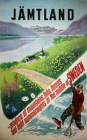 Sweden-Jamtland-Are-fishing-original-vintage-poster