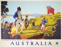 Australia-Captain-Cook-Botany-Bay-1770-travel-poster