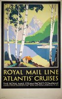 Royal-Mail-Line-Atlantis-Cruises-Percy-Padden-vintage-poster