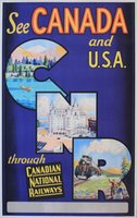 Canada-and-USA-Canadian-National-Railways-original-vintage-poster