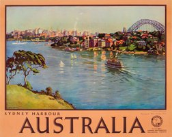 Australia-Sydney-Harbour-travel-poster