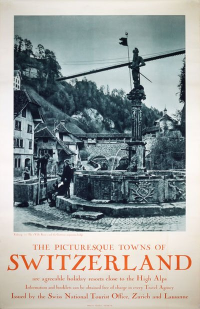 Picturesque towns of Switzerland original poster