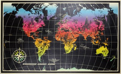 SAS World Map Nielsen, Otto (1916-2000)