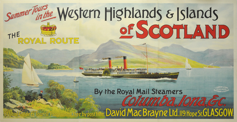 Western Highlands and Islands of Scotland the Royal Route original poster