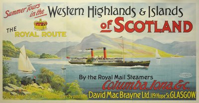 Western Highlands and Islands of Scotland the Royal Route poster