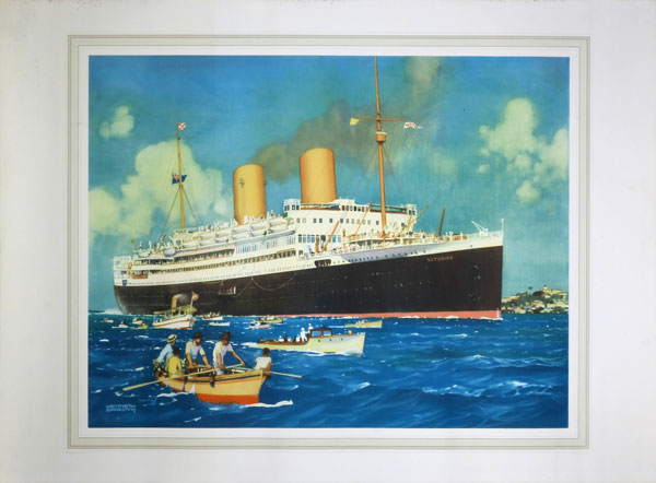R.M.S. Asturias (II) - Kenneth Shoesmith original poster designed by Kenneth Shoesmith (1890-1939)