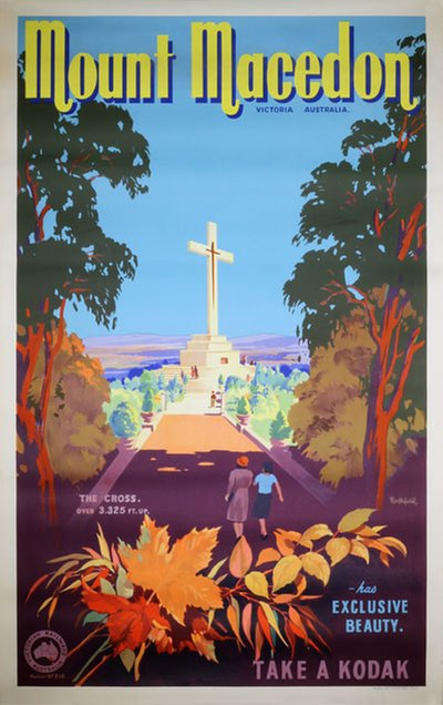 Mount Macedon - Victoria, Australia original poster designed by Northfield, James (1888-1973)
