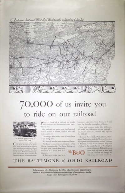 The Baltimore and Ohio Railroad original poster