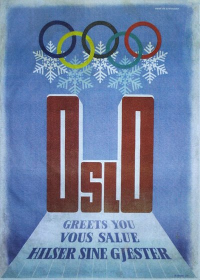 Oslo 1952 Olympic Welcoming Poster