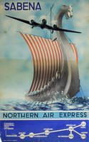 Sabena-Northern-Air-Express-vikingship-poster