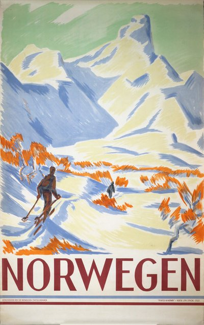 Norwegen poster designed by Unsigned: Probably Gert Jynge
