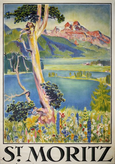 St. Moritz poster designed by Stiefel, Edward (1875-1968)