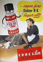 Casco RX lim affisch old poster