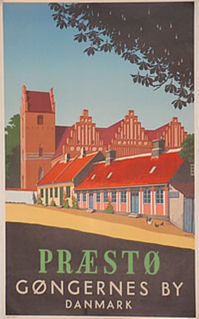 Præstø poster designed by Spliid, Hakon (1893-1959)