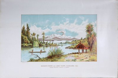 Waikato River and Lake Taupo Auckland New Zealand poster designed by Ryan, Thomas (1864-1927)