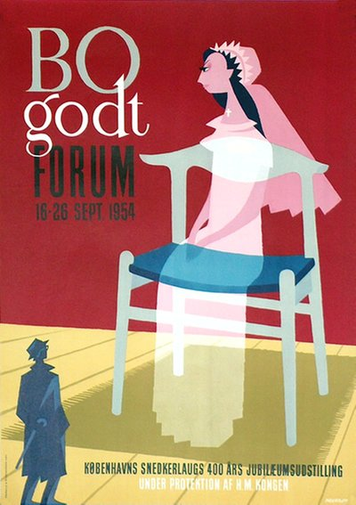 BO godt - Forum 1954 original poster designed by Nertoft