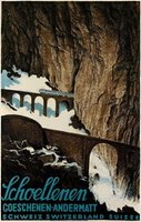 Andermatt Schweiz Switzerland Suisse Railroad poster
