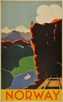 Norway Art Deco poster