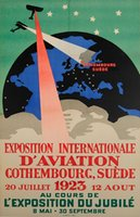 Gothenburg-Suede-Exposition-Internationale-Aviation-affiche