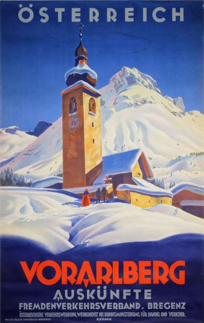 Original Vintage Poster Vorarlberg Osterreich For Sale At