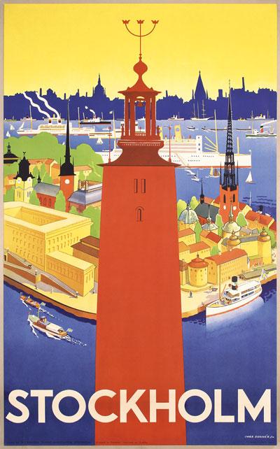 Skyline For Sale Usa >> Original vintage poster: Stockholm - Sweden for sale at ...